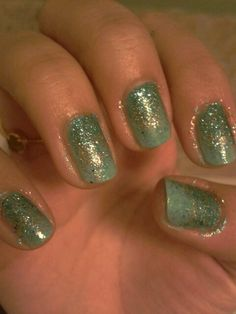 Fairy dust nail art