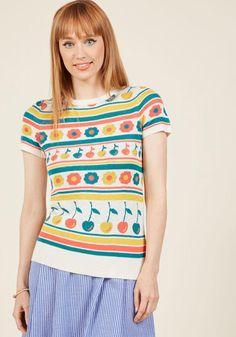 AdoreWe - ModCloth What I Call Fun Intarsia Sweater in Cherries in S - AdoreWe.com