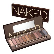 Eyeshadows: Virgin (nude satin), Sin (champagne shimmer), Naked (buff matte), Sidecar (beige spa...