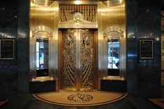 Art Deco - Palmer House Hotel foyer in downtown Chicago