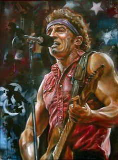 Bruce Springsteen por JackLabArt en DeviantArt - The Boss - Arte Contemporáneo Music Artwork, Art Music, E Street Band, Street Art, Musik Illustration, Heavy Metal, The Boss Bruce, Bruce Springsteen The Boss, Rock Poster