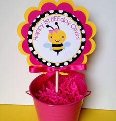 Bumble Bee 1st Birthday Decorations