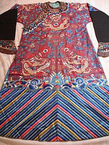 9c568bb5d Chinese Imperial Silk Embroidery Dragon Robe c 1890 (item #995015)