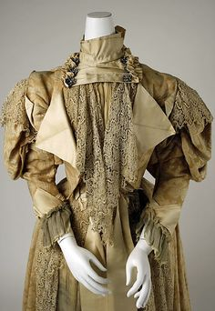 Dress Date: 1894–95 Culture: French Medium: cotton, silk