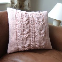 Chunky Hand Knitted Cushion £25.00
