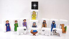 Country Love Crafts - DIY Decorated Nativity Scene Craft Set