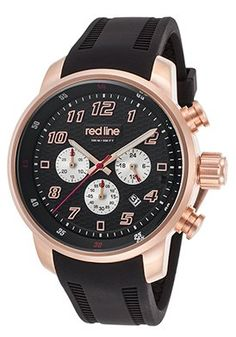 Topgear Chrono Black Silicone and Dial Rose-Tone Case
