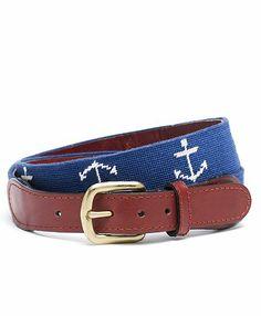 Anchor Needlepoint Belt.  $198.00