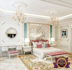 "Beautiful bedroom. Offering a highly personalized bespoke service, we place great importance and commitment to building strong customer relationships, delivering a full interior architecture, furniture design and turn-key styling service from concept through to completion! ❤️ Contact us! 971 50 607 2332 971 55 999 4994 971 54 757 9888 971 4 551 3144 Send us messages! More pictures from portfolio ""Luxury Bedroom Design"": https://antonovich-design.ae/our-works/bedroom-design.htm"