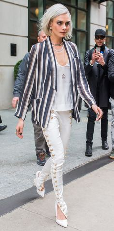 Look of the Day - Cara Delevingne from InStyle.com