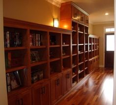 even a narrow hallway can be perfect for storage