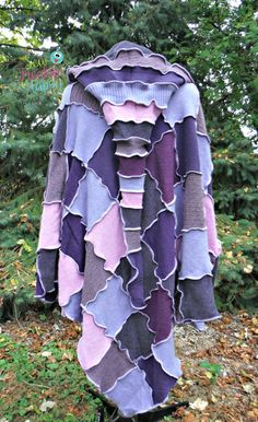 Hooded Cashmere Poncho & Arm Warmers  Recycled by SewFreakinHappy