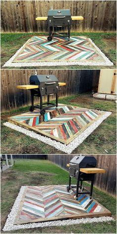 Recycled Pallets Wooden Garden Deck