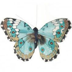 Spring Butterfly Clip in Duck Egg £1.50