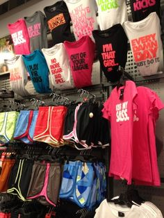 nike sport clothing <3 I wish I could get them all