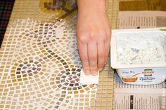 Декор столешницы мозаикой – растительный рисунок - Ярмарка Мастеров - ручная работа, handmade