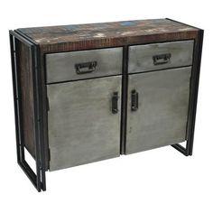 Abran 2 Door 2 Drawer Industrial Sideboard/Buffet