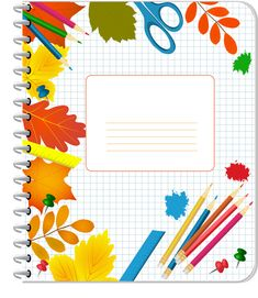 Notebook cover PNG and Clipart