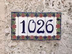 Address plaque on Lincoln Road, Miami Beach