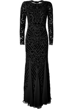PUCCI LUXURY DESIGNER: EMILIO PUCCI DETAILS HERE: Silk Blend Embellished Gown in Black