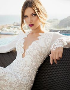 I FREAKIN DIIIIIEEEEEE. Where was this when I was wedding dress shopping?!?! -- Orchid Bridal Collection by Julie Vino Spring 2015 - Belle the Magazine . The Wedding Blog For The Sophisticated Bride