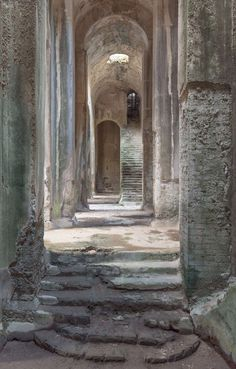 The Piscina Mirabilis was a freshwater cistern on the Bacoli cliff at the western end of the Gulf of Naples, southern Italy. One of the largest freshwater ci. Mother Art, Catacombs, Southern Italy, Timeless Classic, Windows And Doors, Art And Architecture, Fresh Water, Abandoned, Egypt