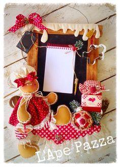 Cartamodelli ginger Natale 2015 : Cartamodello lavagnetta porta notes