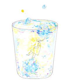 食器と食パンとペン Food Illustrations, Pictures To Draw, Art Reference, Doodles, Fairy, Quote, Drawings, Painting, Design