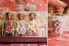 handmade necklace marshmallow jar    http://sainsgioie.blogspot.it  http://www.facebook.com/GioieLillipuziane