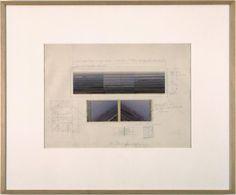 Jan Dibbets, Study for film, 3 x Horizon 45º