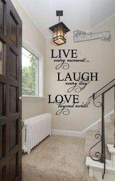 Live Laugh Love Vinyl Wall Decal (Interior & Exterior Available) on Etsy, $29.75