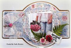 "Ineke""s Creations Marianne Design, Diy Cards, Beautiful Day, Box, Birthday Cards, Wreaths, Crafts, Handmade, Vintage"