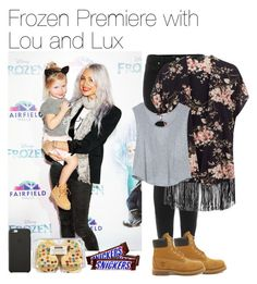 """""""Frozen Premiere with Lou and Lux"""" by vane-abreu ❤ liked on Polyvore featuring Black Apple, Topshop, Victoria's Secret and Timberland"""
