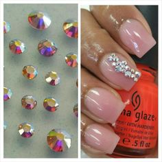 Every nail guru loves Swarovski Crystals  ... so we decided to give you a mix of goodness! Clear AB Swarovski Crystals Mix -- to order click on the link in my bio