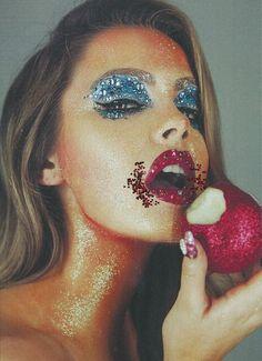 Chloe Lloyd by Tré & Elmaz for Hope ST Mag 3 - glitter eyes and lips
