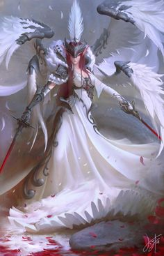 nsfw anime and fantasy girl - Character Concept, Character Art, Concept Art, Angel Warrior, Fantasy Warrior, High Fantasy, Fantasy Girl, Super Anime, Angels And Demons