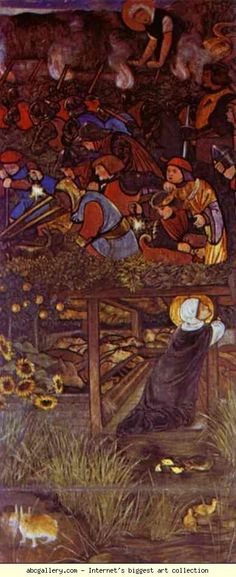 Sir Edward Burne-Jones. The Legend of St. Frideswide.
