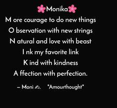 Monika is much more than just a name #write #writerofig #writerofinstagram #writerscommunity #poemas #poetryofig #poem #poemsofinstagram #poetrycommunity #kavi #positivevibes #name #rhythmicgymnastics #thoughtoftheday #quotes #words #wordporn #motivationalquotes #challenge #yqchallenge #yqbaba #yourquote #writting #reltion #yqdidi