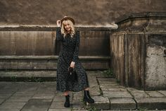 Vintage Boots, High Neck Dress, Dresses With Sleeves, Long Sleeve, Fashion, Turtleneck Dress, Moda, Sleeve Dresses, Long Dress Patterns