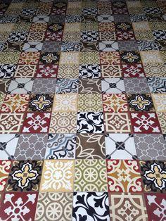 Floor tiles in Vietnam.
