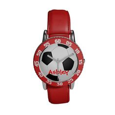 Soccer Ball Customized Name watch #watch #cool #need #want #love #soccer #football #futbol #watches #accessories #women #fashion #sports #gifts