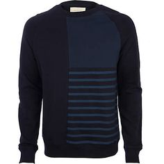 Navy cut and sew sweatshirt Now $30.00