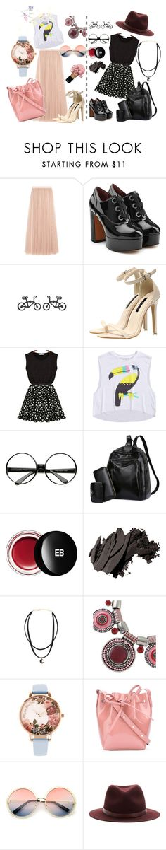 """Summer mix-up"" by victoria-dimeska ❤ liked on Polyvore featuring Needle & Thread, Marc Jacobs, ZeroUV, Edward Bess, Bobbi Brown Cosmetics, Olivia Burton, Mansur Gavriel and rag & bone"