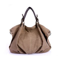 Stylish Canvas and Zipper Design Women's Tote http://www.rosegal.com/bags/stylish-canvas-and-zipper-design-79185.html