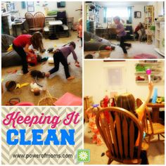 KEEPING IT CLEAN - Tired of begging, nagging, and threatening your kids to clean up? Read these creative suggestions from Danielle Porter to make clean-up time fun!