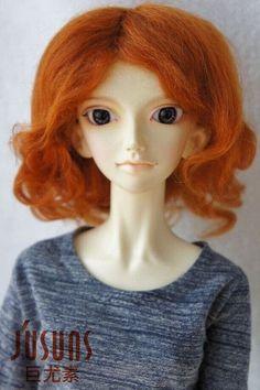 Mohair Doll Wigs 1/3 Mid long curly DZ doll wig Magic mohair hair