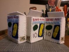 Hey, I found this really awesome Etsy listing at https://www.etsy.com/listing/112412554/felt-band-aid-box-band-aids