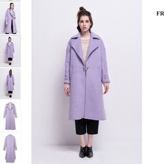 FRS Lilac Wool Coat Very warm and well made. Not sure about selling bc I love the cut & color however I hadnt realized when I bought it that the sides are split, super unique just has to grow on me still   NO TRADES Front Row Shop Jackets & Coats