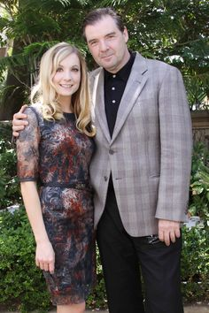 yesss • wholia87: Joanne Froggatt & Brendan Coyle at the Downton Abbey Season 3 Press Conference in LA on July 22, 2012------------floridaredsnapper.tumblr.com