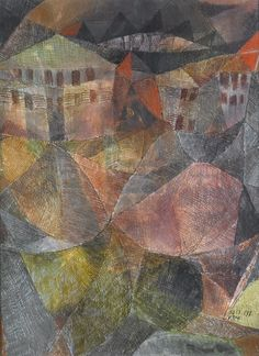 Paul_Klee_Das_Hotel.jpg (1878×2586). Klee's  His highly individual style was influenced by movements in art that included expressionism, cubism, and surrealism. Here the influence of cubism is clearly seen.